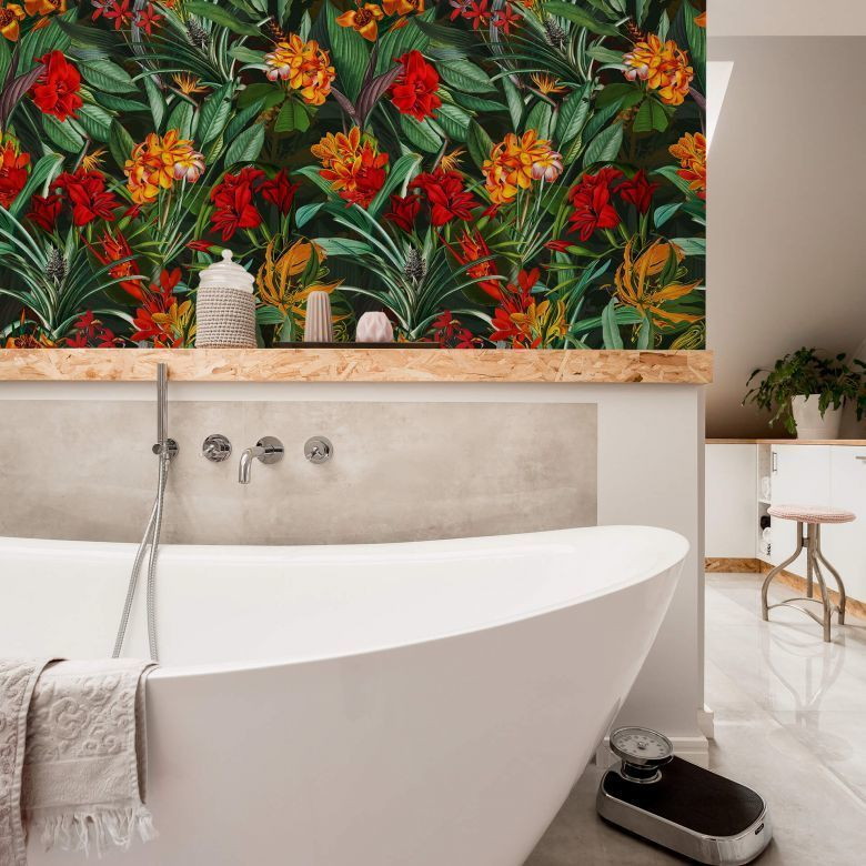 Mustertapete UN Designs - Tropische Blüten Mustertapeten - zeitlos schöne Designs immer wieder neu im Trend! https://www.wall-art.de/mustertapeten/mustertapete-un-designs-tropische-blueten-kt1170a.html