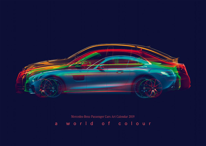 "Mercedes-Benz Cars Calendar ""A World of Color"""