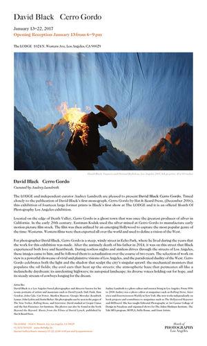 GIANT ARTISTS: David BLACK's first monograph, 'Cerro Gordo'