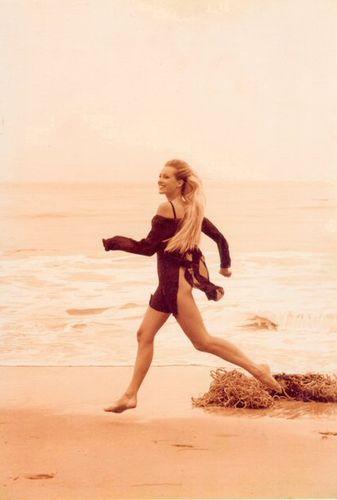 Model Louise BJERREGAARD,El Matador Beach,L.A.