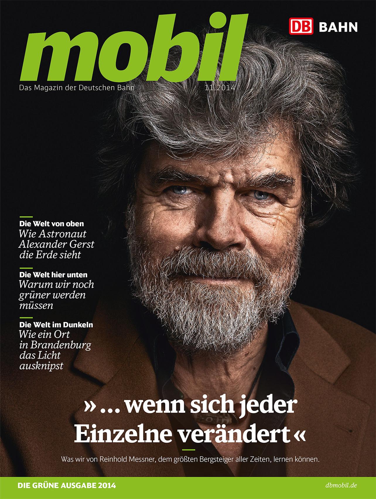 Marco J. Schöler fotografiert Reinhold Messner für DB mobil