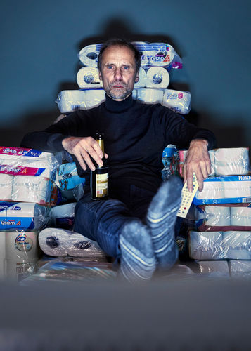 MANU AGAH photographs 'THE TOIPAPER PROJECT' - JAN GEORG SCHÜTTE - actor and film director