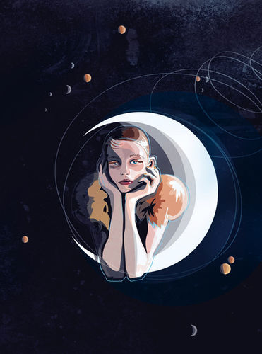 """""""Girl in the moon"""""""