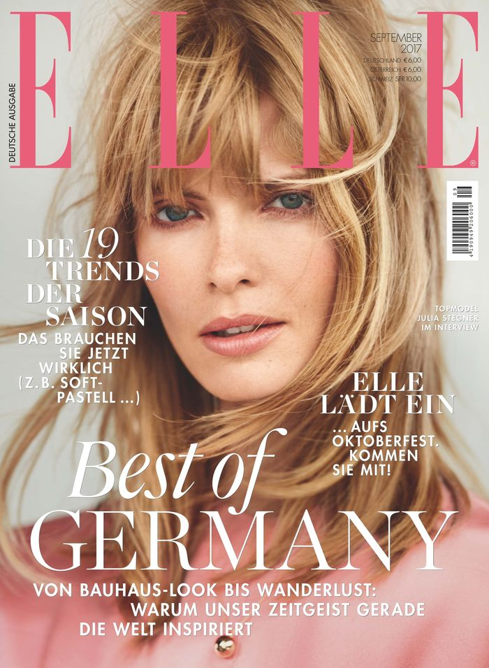 Julia Stegner for Elle Germany September 2017 Issue shot by Alexei Hay