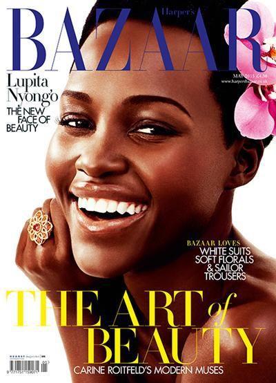 Lupito Nyong'o, Harpers Bazaar UK May 2015