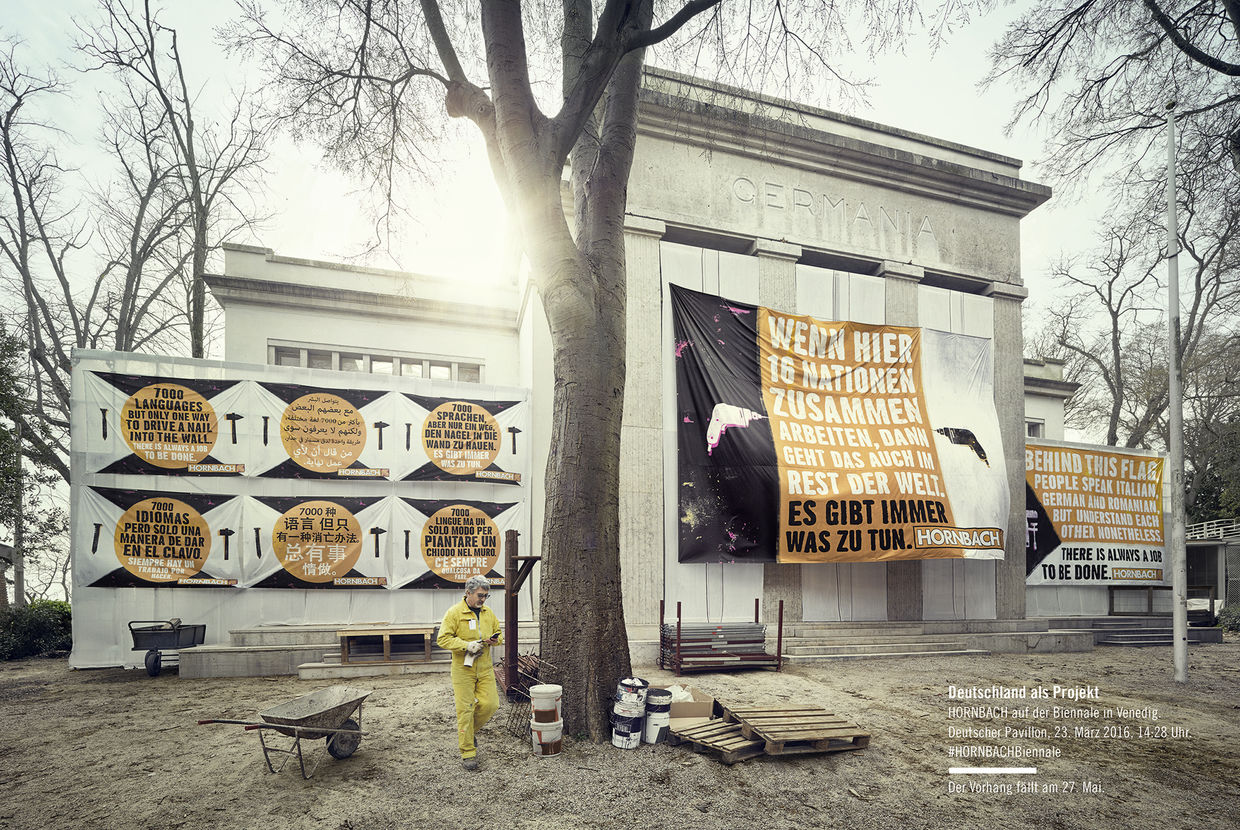 Mysterious HORNBACH posters at the German Pavilion in Venice ...