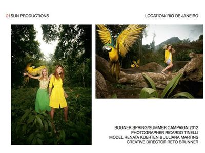 21 SUN PRODUCTIONS for BOGNER S/S 2012