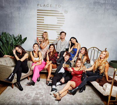 "Jüli Mery, Stefanie Giesinger, Mandy Bork, Laura Noltemeyer, DieLochis, Ischtar Isik, Milena Karl, Shirin David, Pamela Reif by Frank P. Wartenberg @ ""Place to B"" Influencer Award 2017"