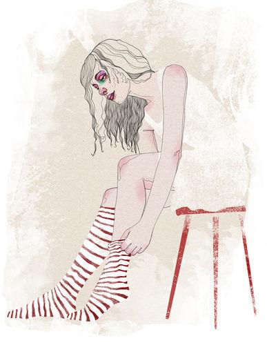 Fashion-Illustrationen von Katrin Wolff