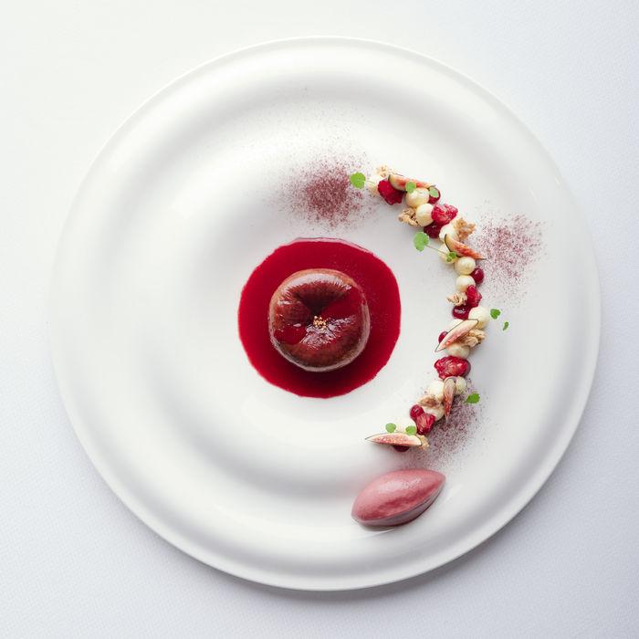 Fine food dessert photography for LeCrans Hôtel & Spa
