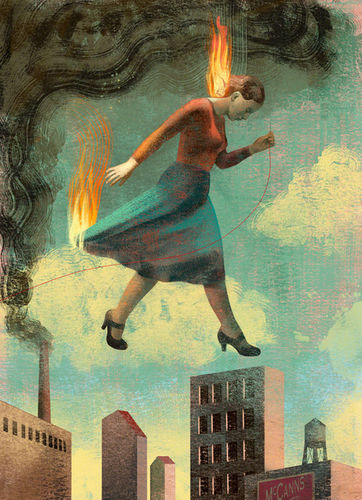 "BALBUSSO TWINS Burning Girls"" by Veronica Schanoes"