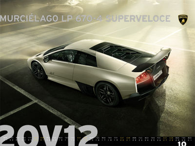SUBLIME POSTPRODUCTION for LAMBORGHINI CALENDAR 2012