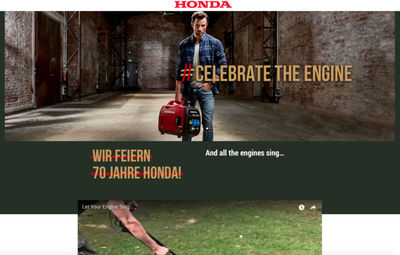 NATURAL BORN EXPLORERS : 'Celebrate the engine'  for Honda Power Equipment