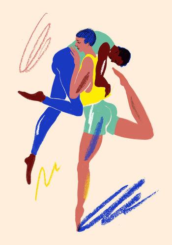 WILDFOX RUNNING: Barbara Ott 'dancing people'