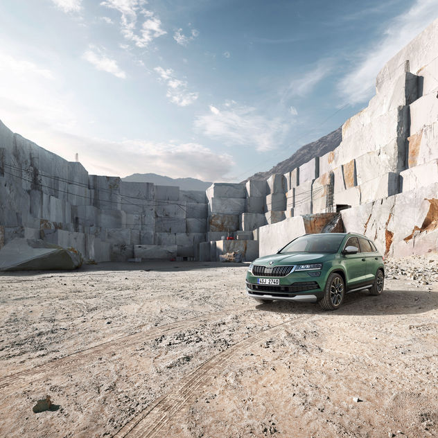 CGI marble quarry for the new Škoda Karoq Scout by PUNCTUM IMAGES