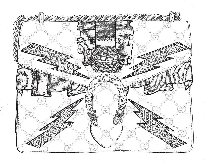 Tasche ausmalbild  kombinatrotweiss illustration : OPEL illustrations, exhibition ...