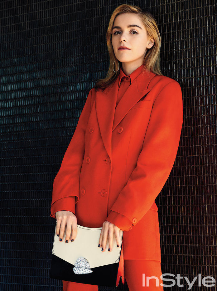Todd Cole c/o GIANT ARTISTS photographed Kiernan Shipka for InStyle's May issue.
