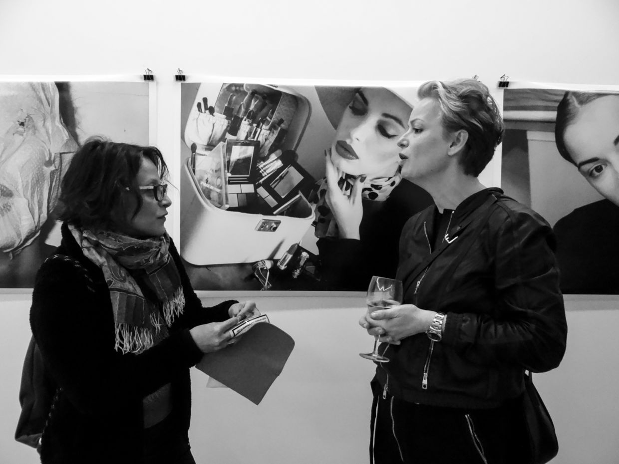 Re-Searching Identity Vernissage at Laufer Art Gallery, Belgrade, Serbia.