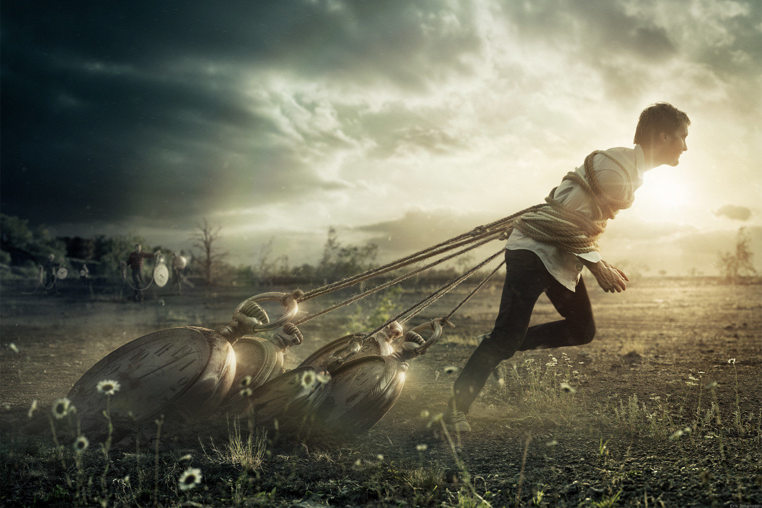 'Give me Time' by Erik Johansson c/o AGENT MOLLY & CO