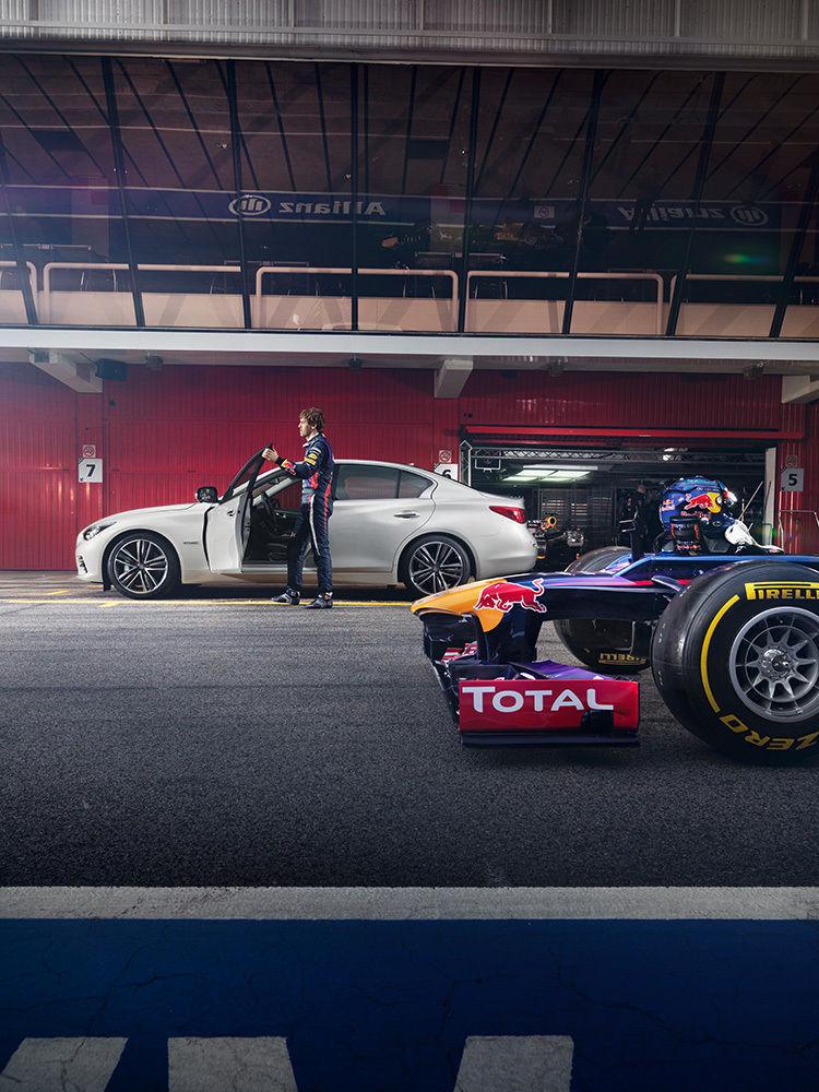 ANKE LUCKMANN : Infiniti Q50 and Sebastian Vettel for infiniti magazine