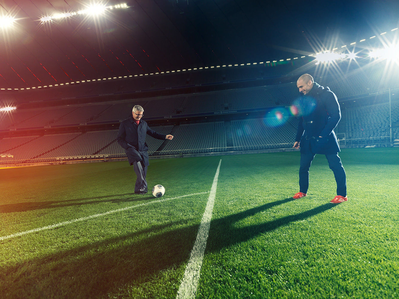 ANKE LUCKMANN for Audi: Rupert Stadler meets Pep Guardiola