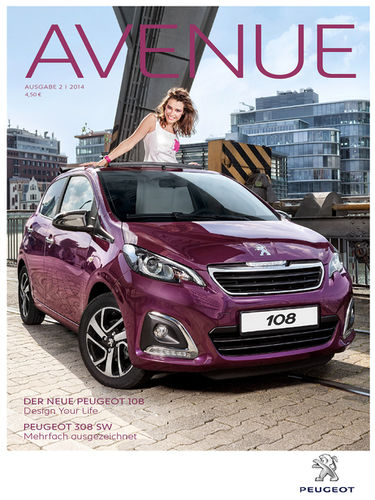 CKGRAPHIC for Peugeot 'Avenue Magazine'