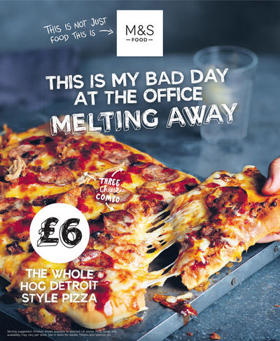 M&S The Whole hog Detroit style pizza advert