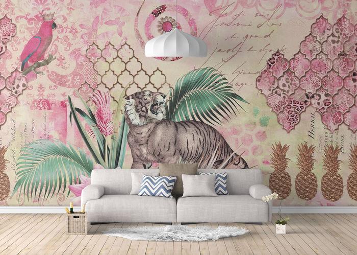 Fancy Tiger Wall Mural