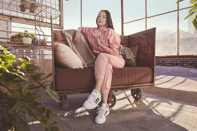 GLAM PRODUCTION produced adidas Classics apparel featuring Basketball player Derrick Rose , dancer Chachi Gonzales and K-Pop star Naeun Son