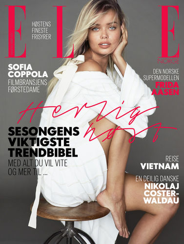 Frida Aasen by Asa Tallgard for ELLE Norway September issue 2017