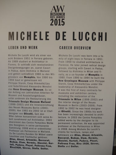AW DESIGNER OF THE YEAR 2015 : Michele De Lucchi