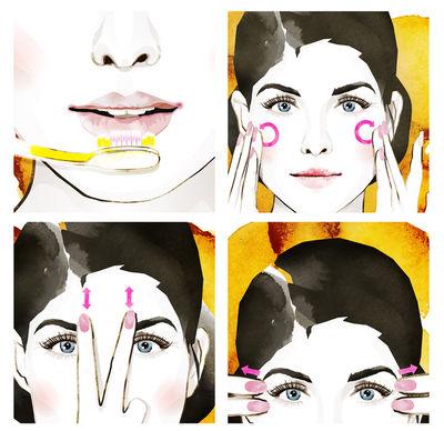 Gesichtsmassage für Migros Medien