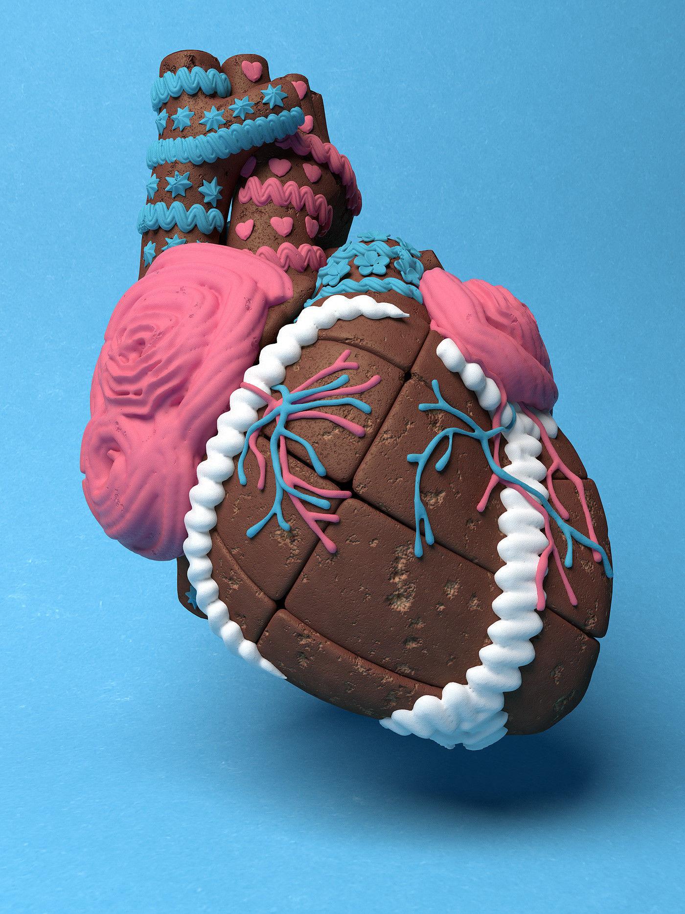 Organic Food - Gingerbread Heart