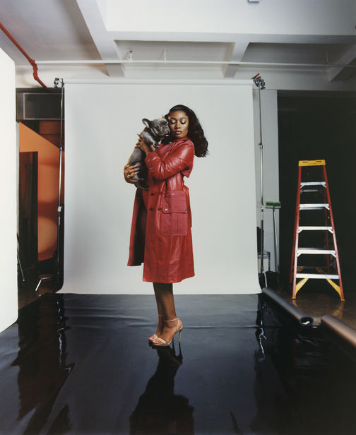 Micaiah Carter c/o GIANT ARTISTS photographed Megan Thee Stallion for the cover of Marie Claire