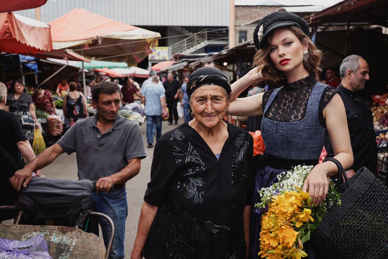 STEPHAN GLATHE for Kinga Mathé Dirndl Campaign in Tiflis