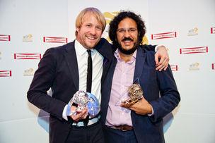 Winner Dinner 2011 :  Florian Grimm (Grimm Gallun Holtappels), Burak Heplevent (Markenfilm)
