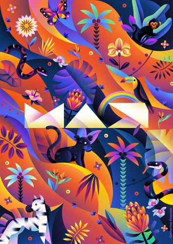 'Neon Jungle' by Catherine Pearson c/o MAKING PICTURES ILLUSTRATION for Adobe + Laundry Service