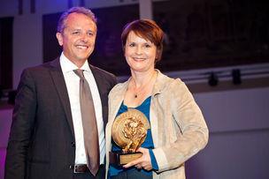 Winner Dinner 2011 : Florian Weischer (WerbeWeischer), Claudia Willvonseder (IKEA) Advertiser of the Year