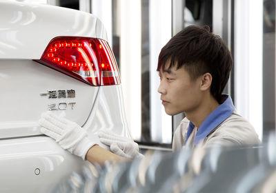 Produktion von Audi in Changchun, China