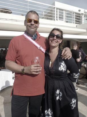 CANNES 2011 : MARKENFILM -  sundowner with producer Dominik Meis / Markenfilm and Nadine von Volkmann / Tröber Casting