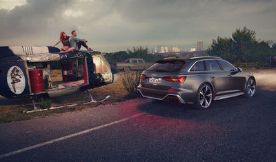 ANKE LUCKMANN shoots the Audi RS6 Avant for Philipp & Keuntje