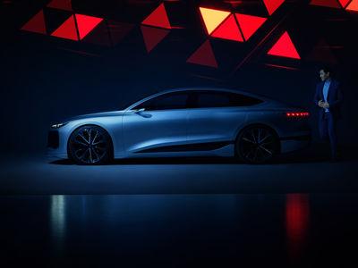 FRITHJOF OHM INCL. PRETZSCH with the Audi A6 e-tron concept car