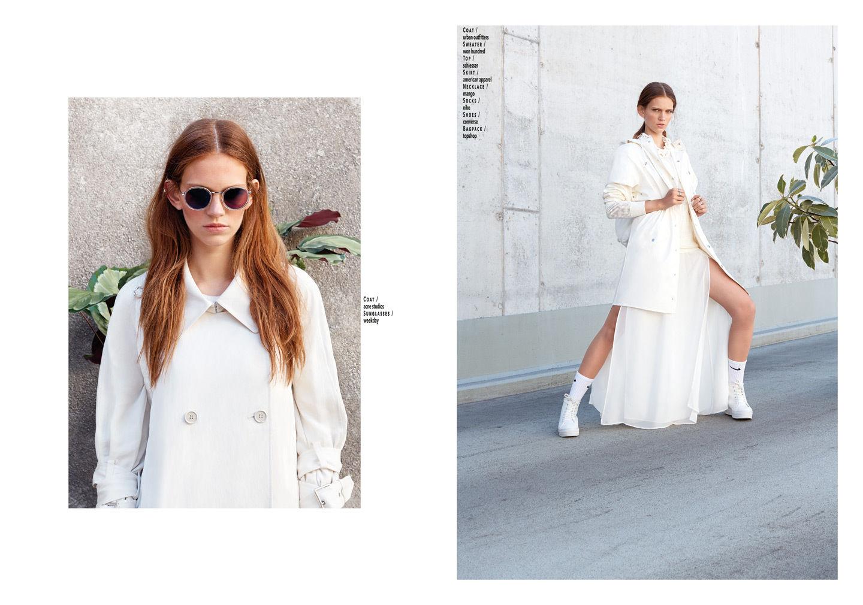"""White glaze"" for Le Mile Magazine"