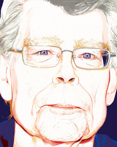 Portrait of author Stephen King by André LAAME c/o SEPIA