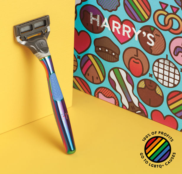 "Harry's teamed up with Justin Fantl c/o GIANT ARTISTS to showcase their new ""Shave with Pride"" line with 100% of the profits going toward LGBTQ causes."