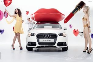 EAST WEST MODELS : DOUNIA / AMELIE / MICHAEL-OLIVER for AUDI A1 MAGAZINE