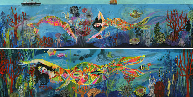 Olaf HAJEK c/o 2AGENTEN Original Paintings for Luxury Suites for new TUI Cruiseship