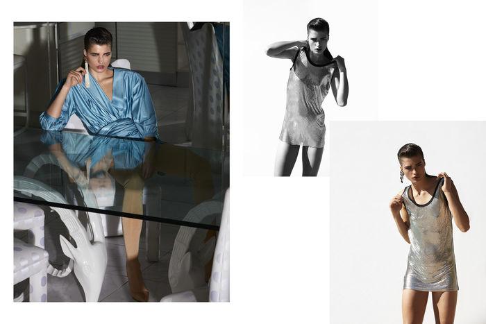 Julia Van Os in Vogue Japan April 2017 by Camilla Akrans c/o LUNDLUND