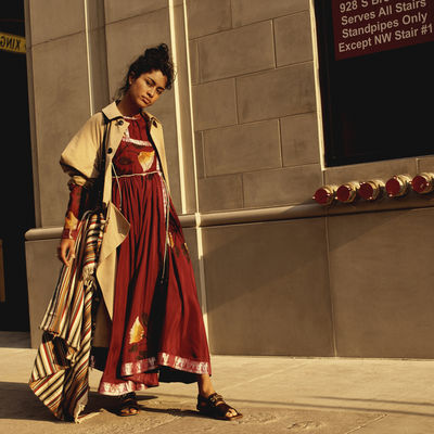 GLAMPR: Top Model Luz PAVON for ELLE UK March 18