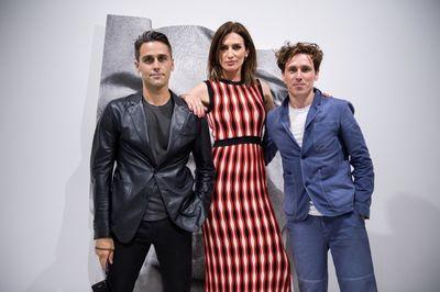 Spanish model Nieves Alvarez with Cristian Hunter and Martin Gatti / HG Art Gallery by HUNTER & GATTI